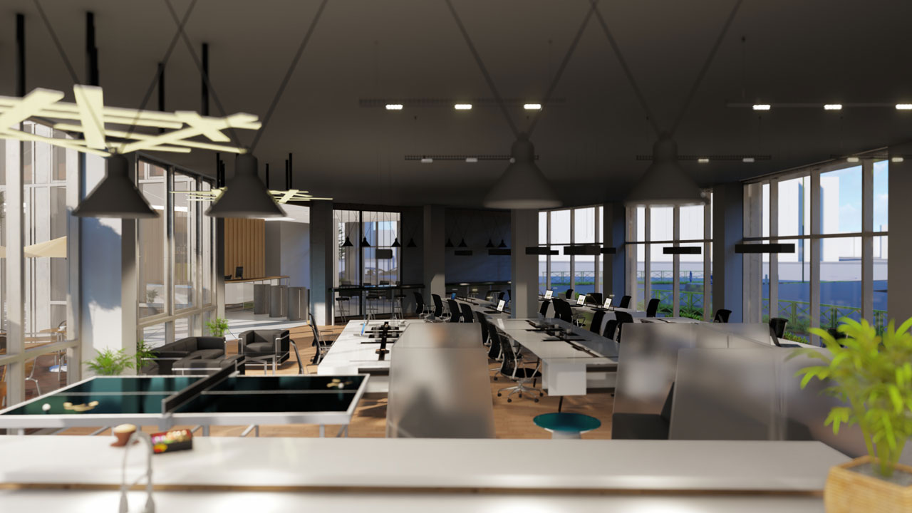 Co-Working Space Interior Design – France