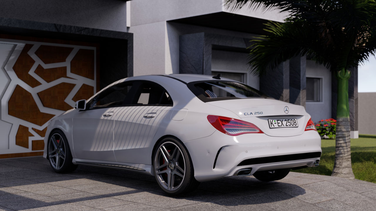 Mercedes CLA – Product Rendering