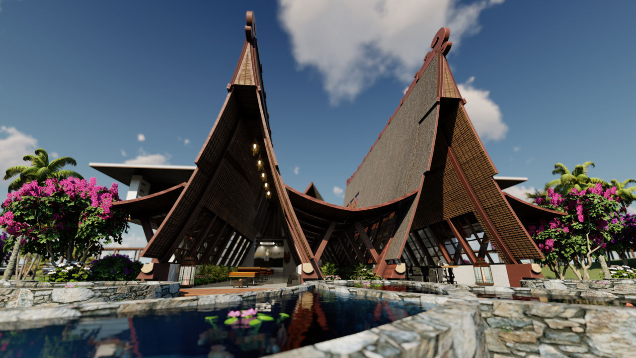 Hotel 3D visualization and animation – Indonesia
