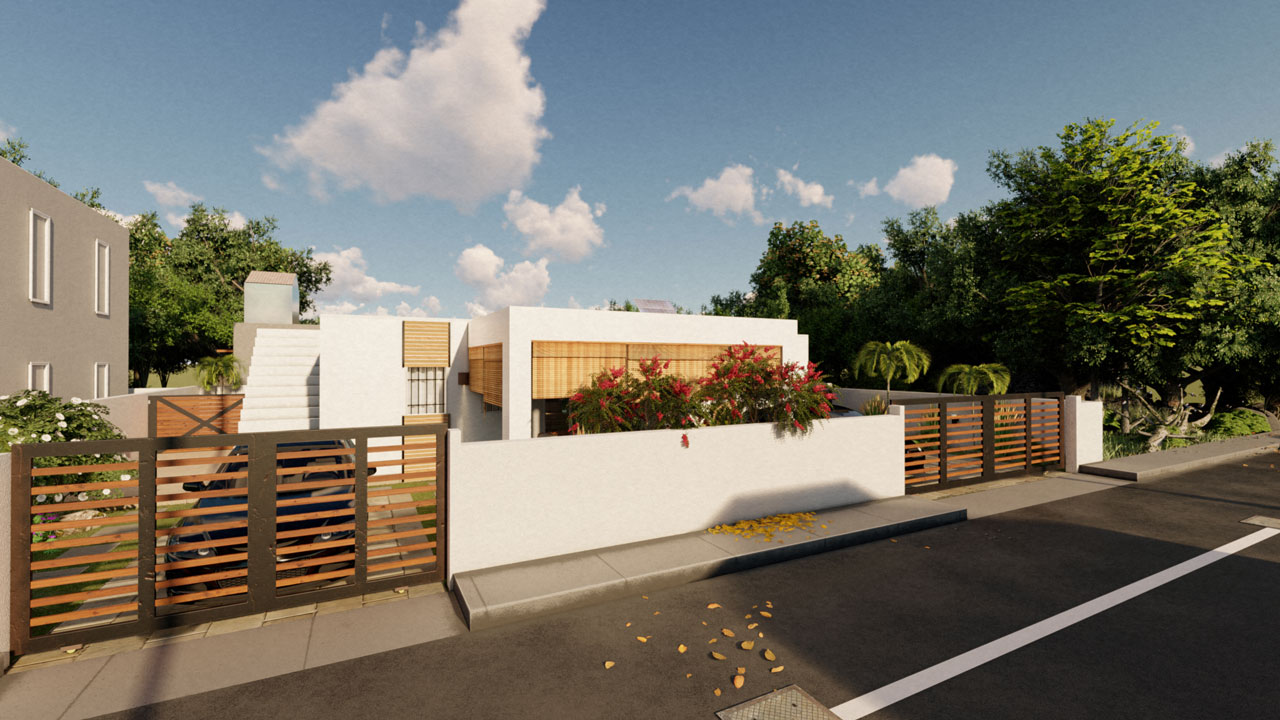 Small Family Villa 3D visualization and rendering – Mauritius