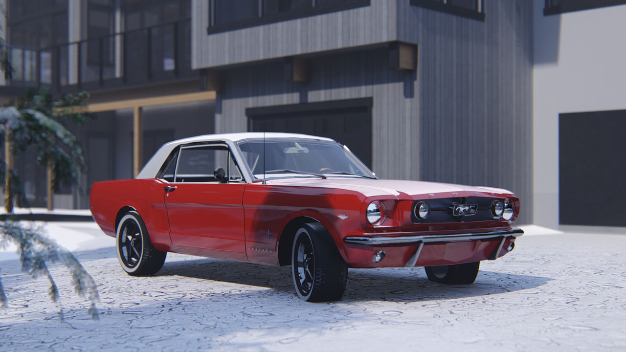 Ford Mustang 3D Rendering and Animation