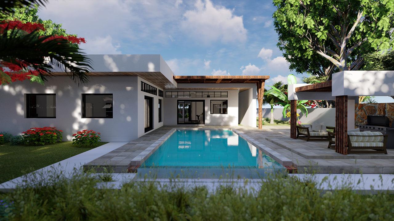 Contemporary Exterior Design Family Villa – Mauritius